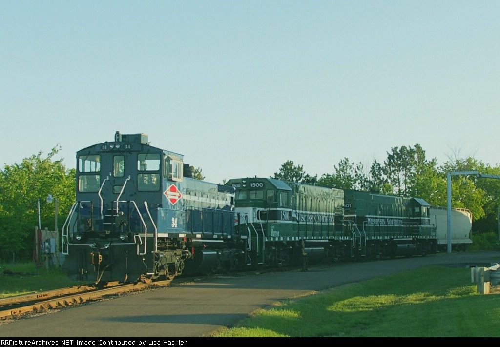 PGR 34 & WN 1500 & 1501 Wisconsin Northern Fleet